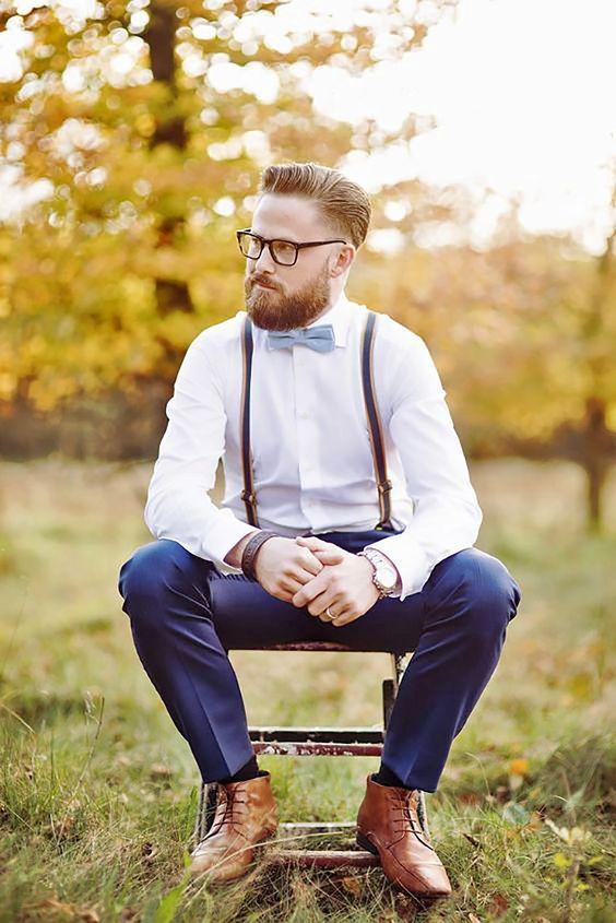 vintage hipster vőlegény csokornyakkendő öltözék